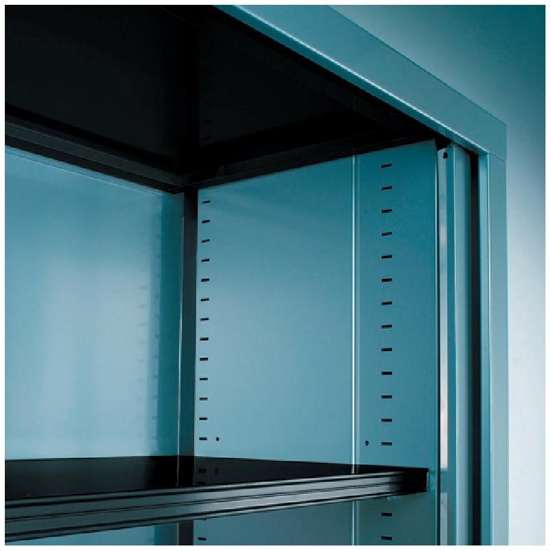 armoire rideaux monocouleur l 120 cm x h 100 cm. Black Bedroom Furniture Sets. Home Design Ideas