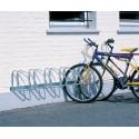 Support cycles mural 5 places orienté 45°