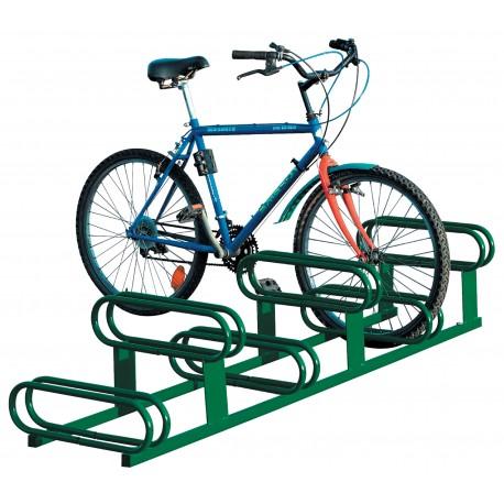 Support cycles 6 places peint coloris vert