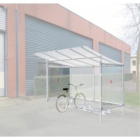 lot de 2 bardages lat raux pour abri cycles et motos. Black Bedroom Furniture Sets. Home Design Ideas