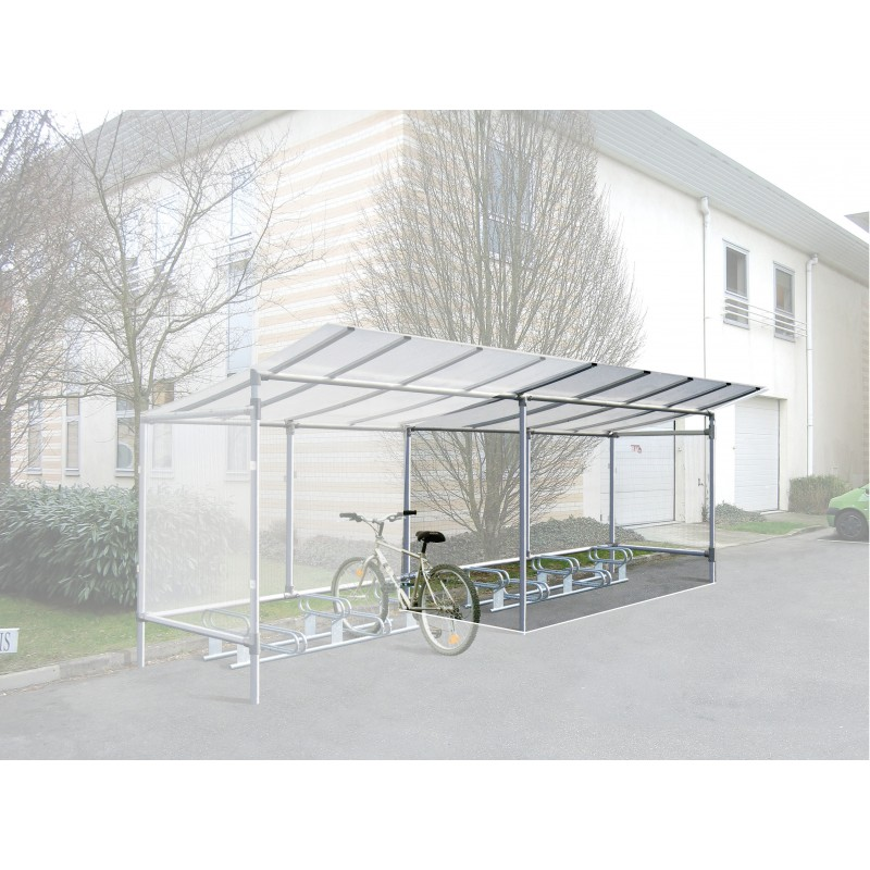 abri cycles et motos l ment suivant en aluminium longueur. Black Bedroom Furniture Sets. Home Design Ideas
