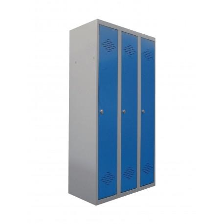 Vestiaire industrie propre monobloc 3 cases L. 90 cm
