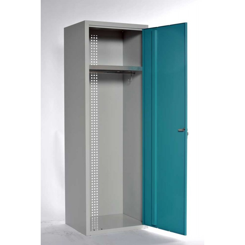 Armoire collectivit s penderie en m tal largeur 60 cm for Armoire 1 porte penderie