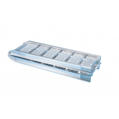 Rampe en aluminium pliée