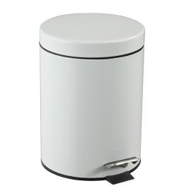 Poubelle à pédale First 5 litres acier coloris blanc