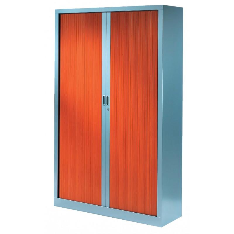 armoire rideaux monocouleur l 120 cm x h 198 cm. Black Bedroom Furniture Sets. Home Design Ideas