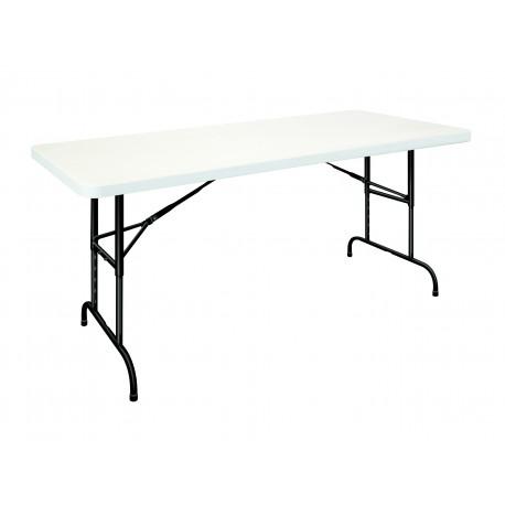 Table POLYPROPYLENE RECTANGULAIRE REGLABLE EN HAUTEUR