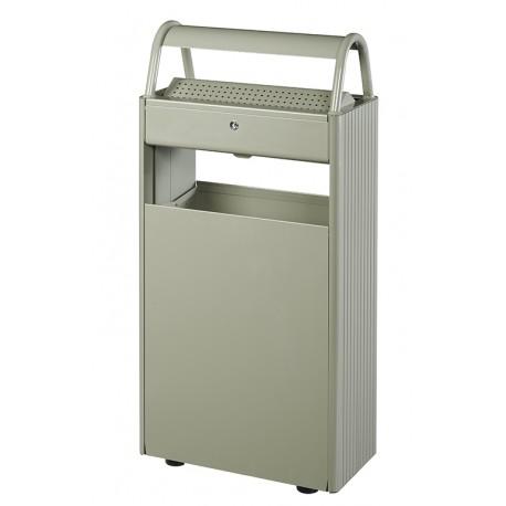 Cendrier corbeille 12L/60L coloris gris ciment
